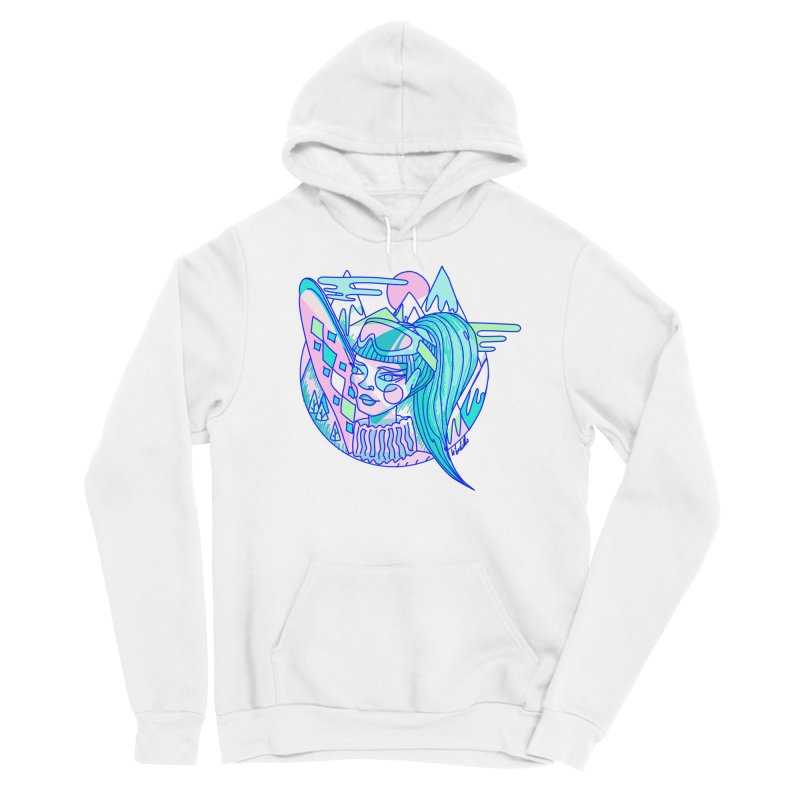 Ski girl Women's Pullover Hoody by libedlulo