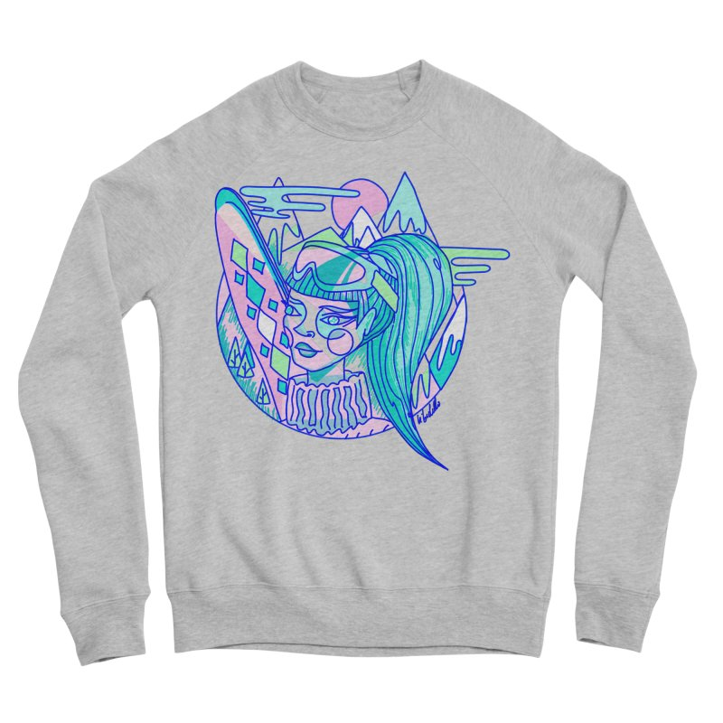 Ski girl Women's Sponge Fleece Sweatshirt by libedlulo