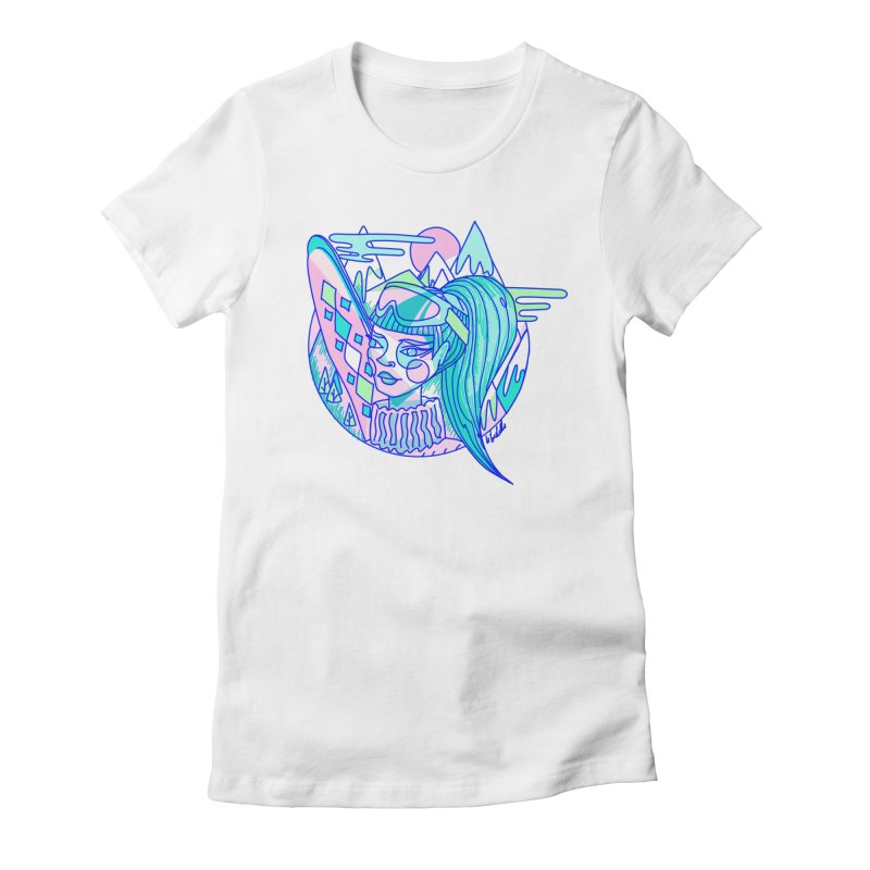 Ski girl Women's Fitted T-Shirt by libedlulo