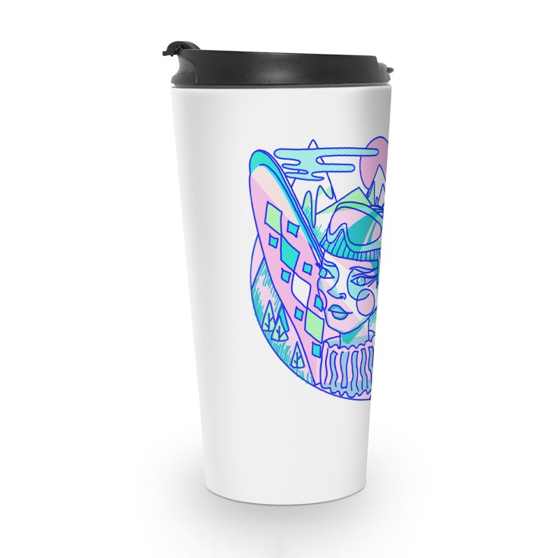 Ski girl Accessories Travel Mug by libedlulo