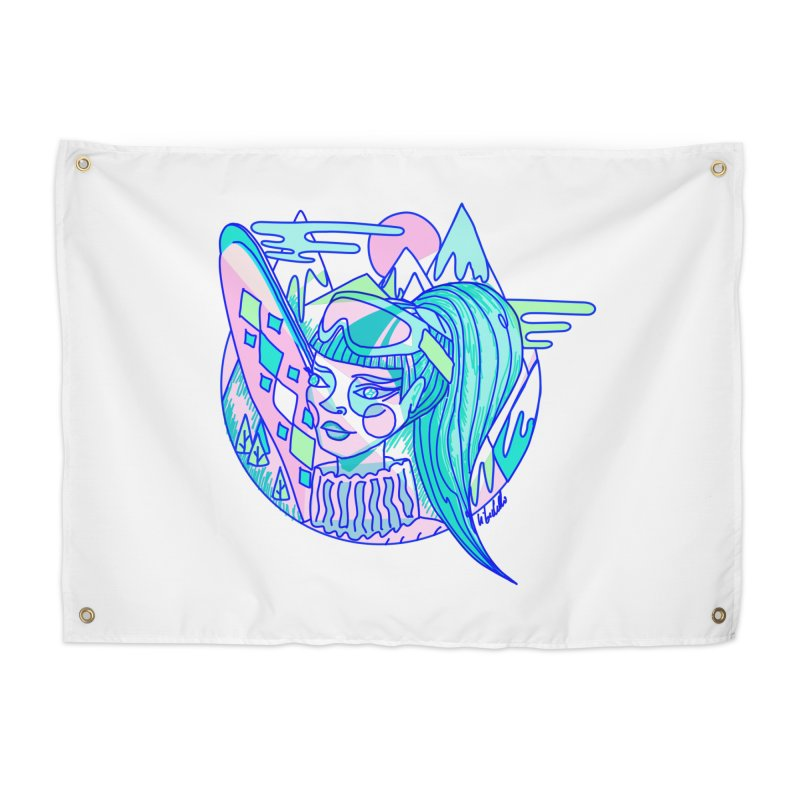 Ski girl Home Tapestry by libedlulo
