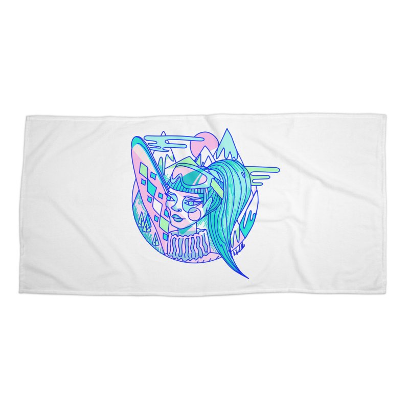 Ski girl Accessories Beach Towel by libedlulo
