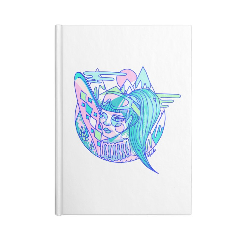 Ski girl Accessories Lined Journal Notebook by libedlulo