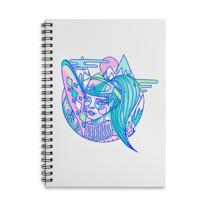 Ski girl Accessories Lined Spiral Notebook by libedlulo