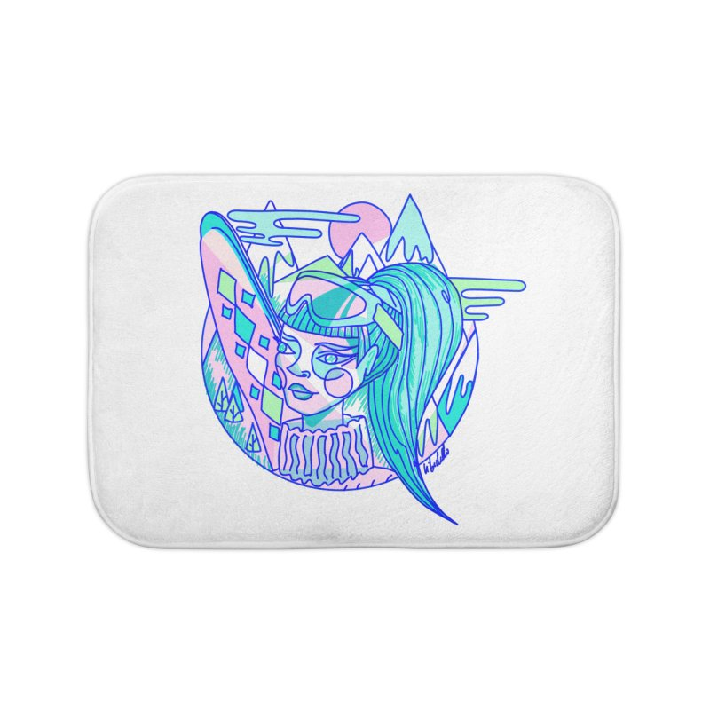 Ski girl Home Bath Mat by libedlulo
