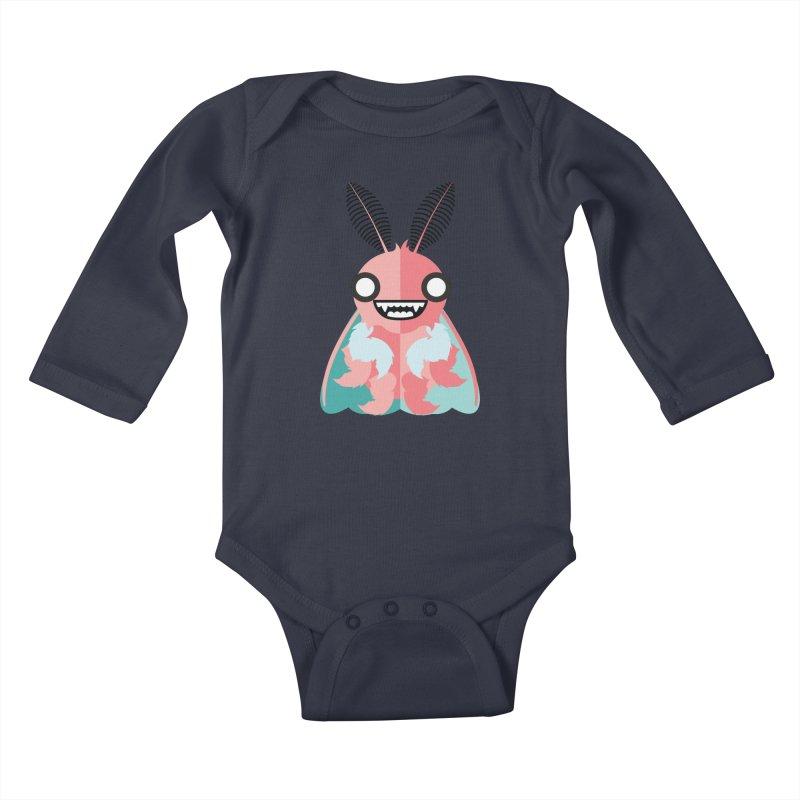 Baby Mothra Kids Baby Longsleeve Bodysuit by libedlulo