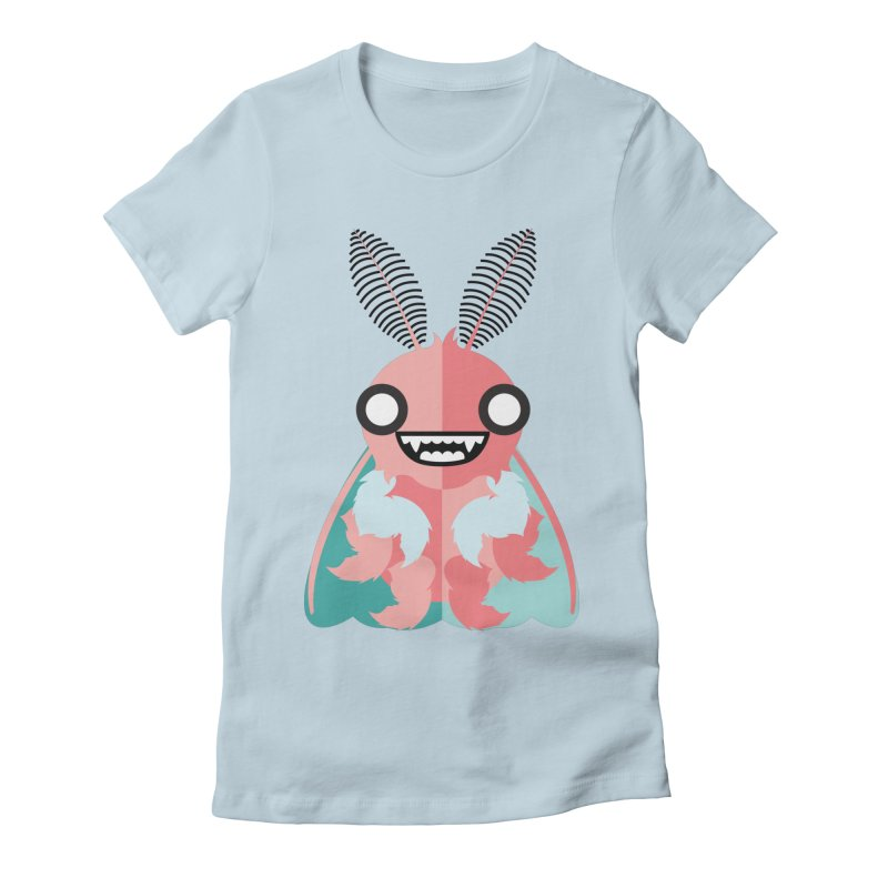 Baby Mothra Women's Fitted T-Shirt by libedlulo
