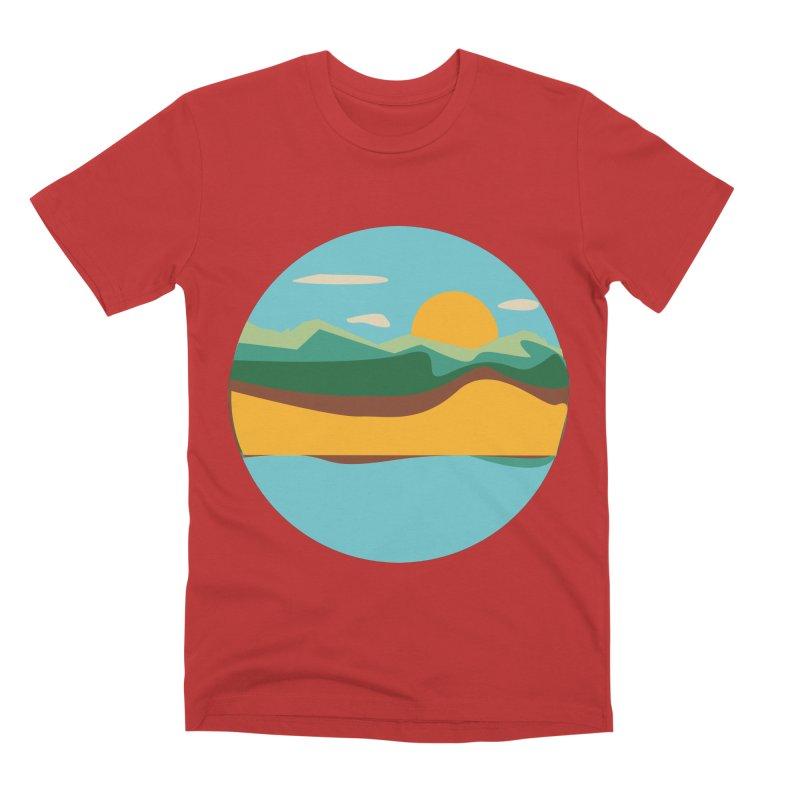 Beach Town Men's Premium T-Shirt by libedlulo