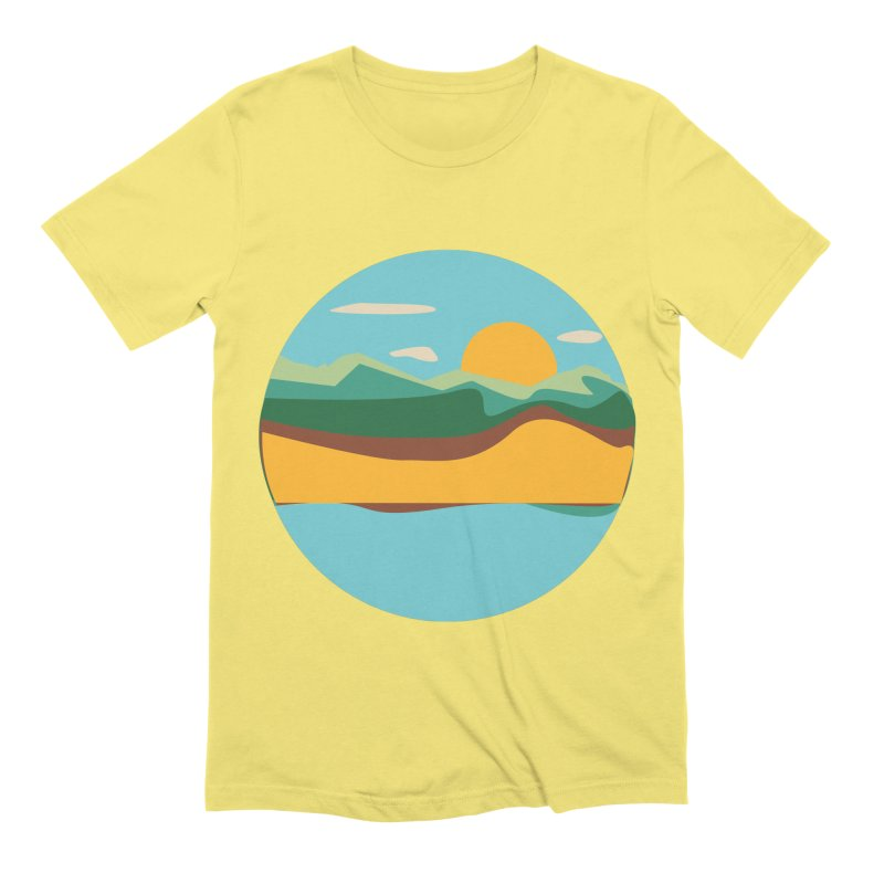 Beach Town Men's Extra Soft T-Shirt by libedlulo