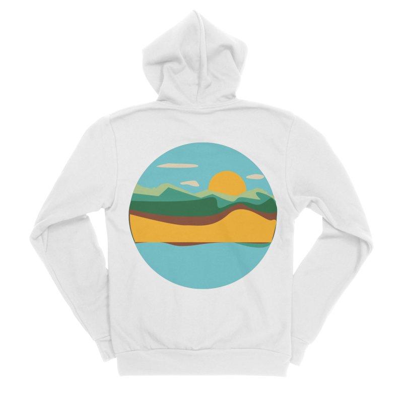 Beach Town Men's Sponge Fleece Zip-Up Hoody by libedlulo