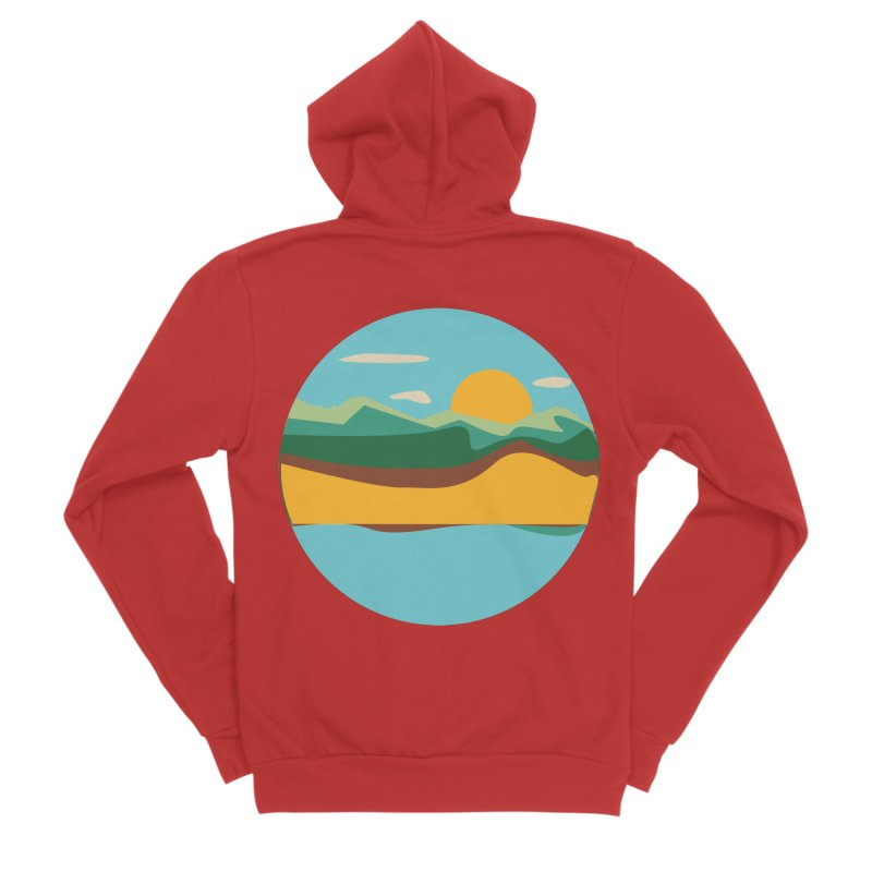 Beach Town Men's Zip-Up Hoody by libedlulo