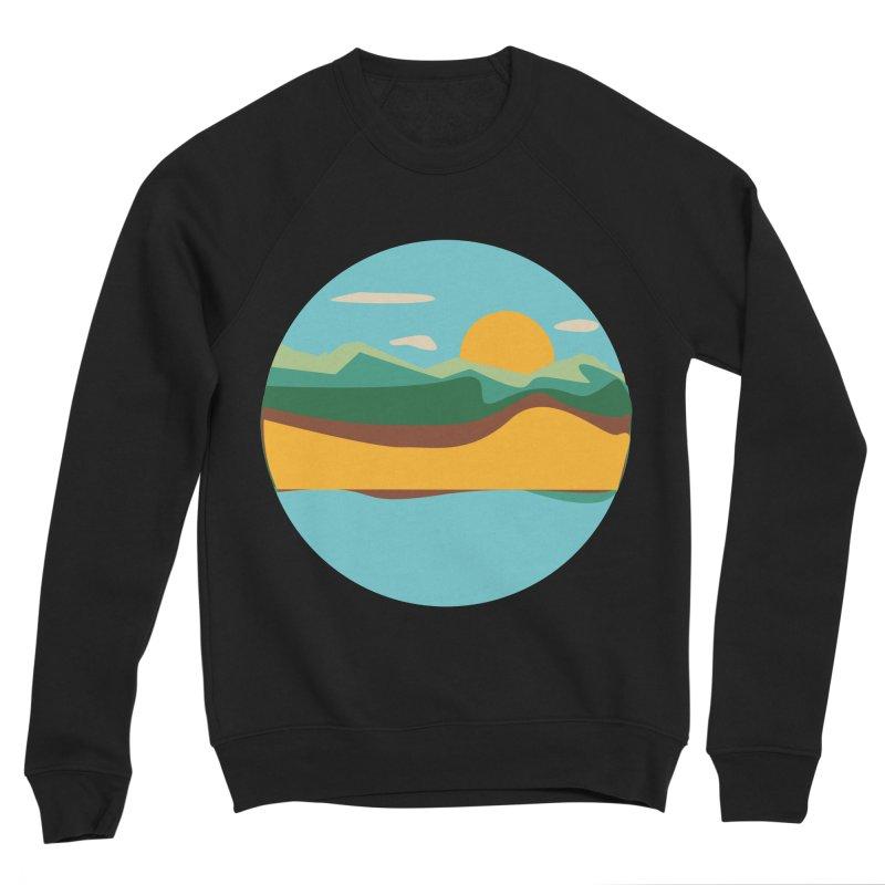 Beach Town Men's Sponge Fleece Sweatshirt by libedlulo