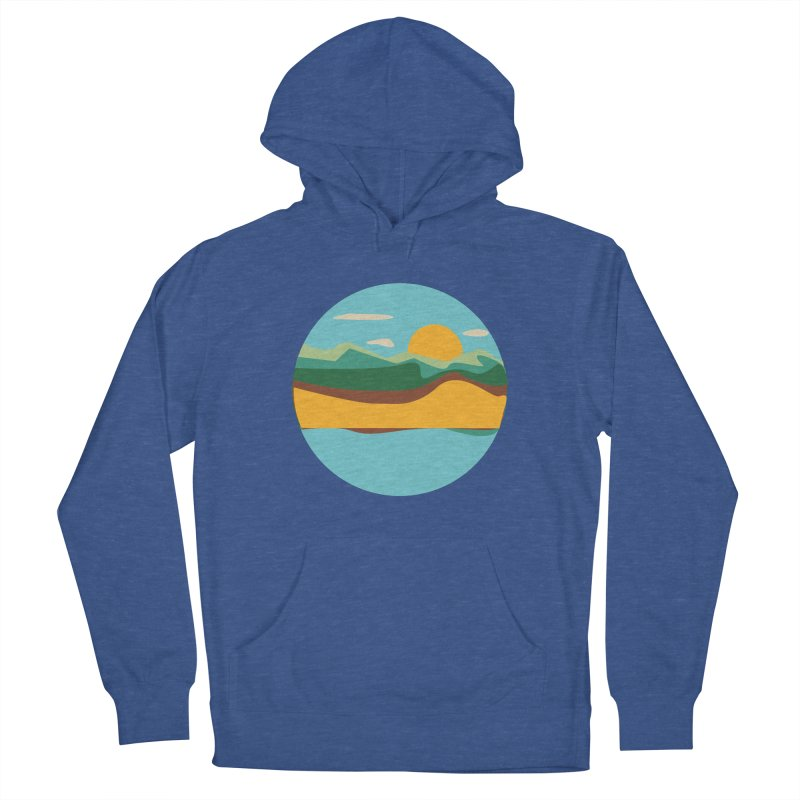 Beach Town Men's French Terry Pullover Hoody by libedlulo