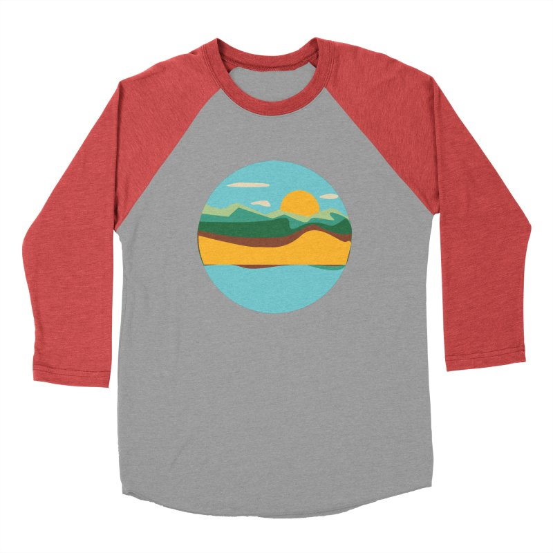 Beach Town Men's Longsleeve T-Shirt by libedlulo