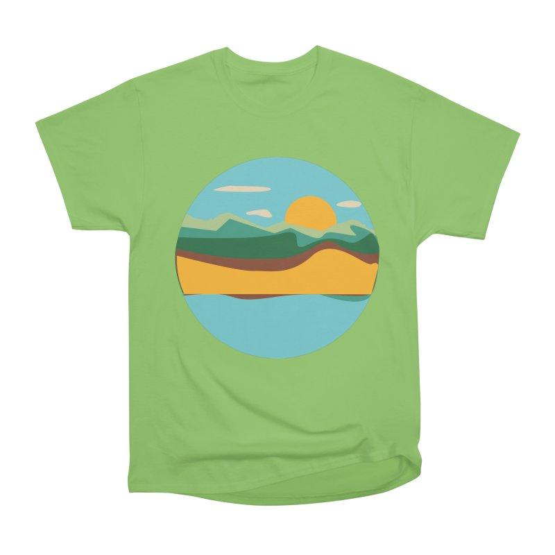 Beach Town Men's Heavyweight T-Shirt by libedlulo