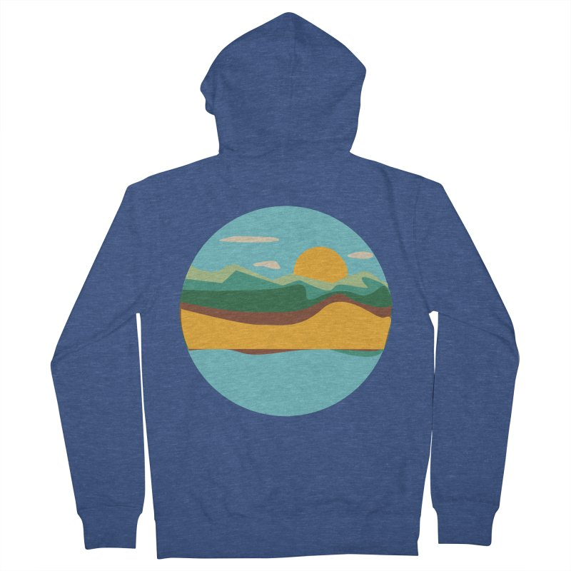 Beach Town Men's French Terry Zip-Up Hoody by libedlulo