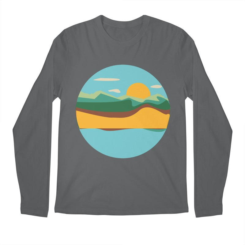 Beach Town Men's Longsleeve T-Shirt by libedlulo