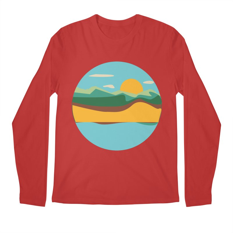 Beach Town Men's Regular Longsleeve T-Shirt by libedlulo