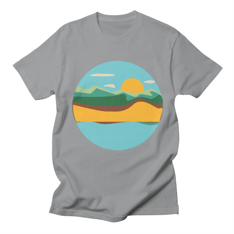 Beach Town Men's T-Shirt by libedlulo