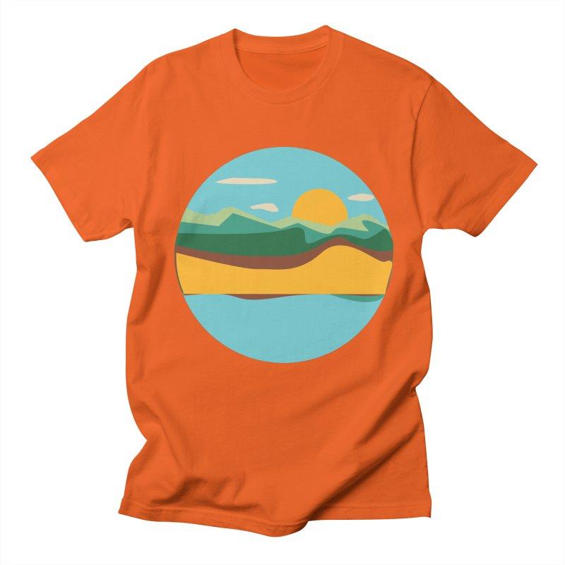 Beach Town Men's Regular T-Shirt by libedlulo
