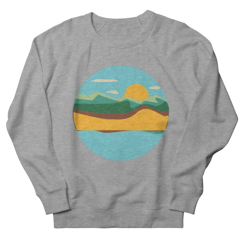 Beach Town Men's French Terry Sweatshirt by libedlulo