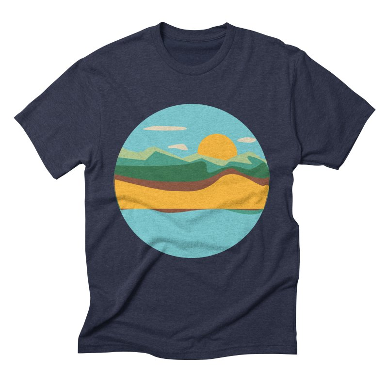 Beach Town Men's Triblend T-Shirt by libedlulo