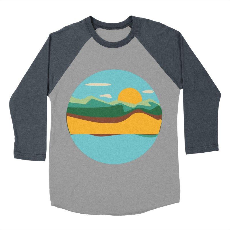 Beach Town Men's Baseball Triblend Longsleeve T-Shirt by libedlulo