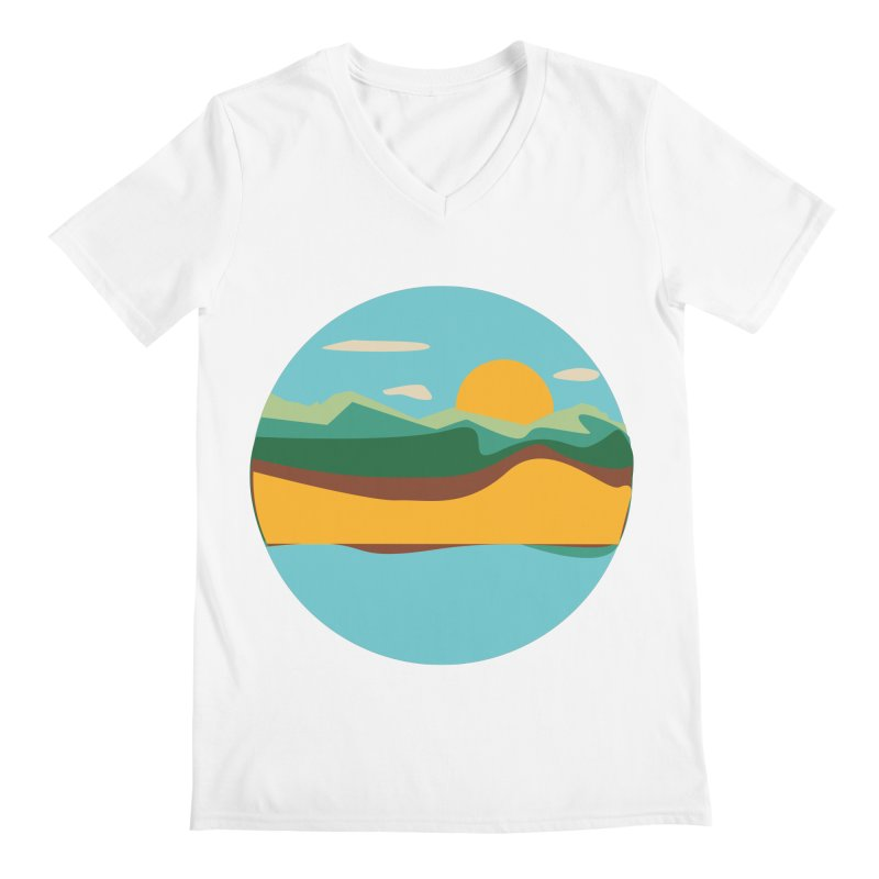 Beach Town Men's V-Neck by libedlulo