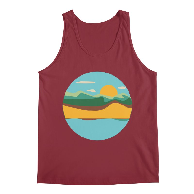 Beach Town Men's Tank by libedlulo