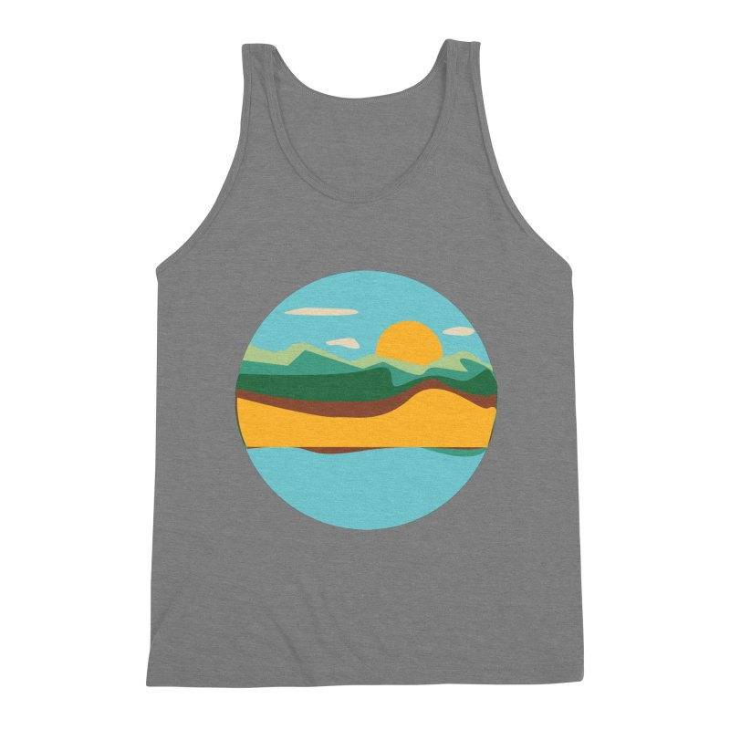 Beach Town Men's Triblend Tank by libedlulo