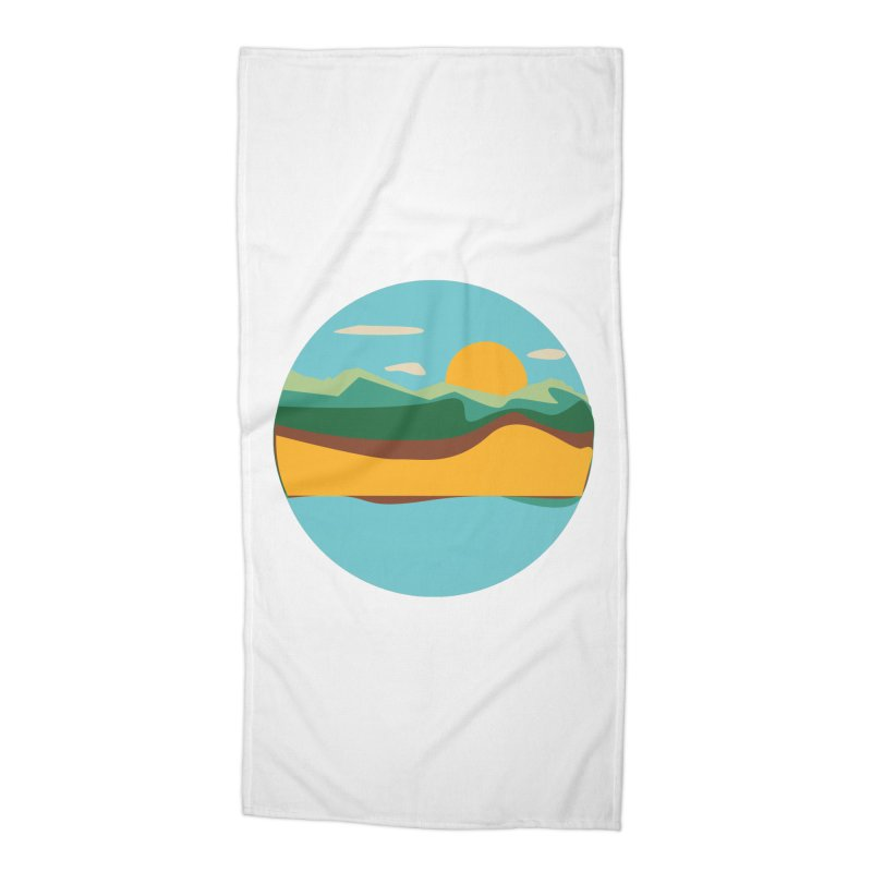 Beach Town Accessories Beach Towel by libedlulo