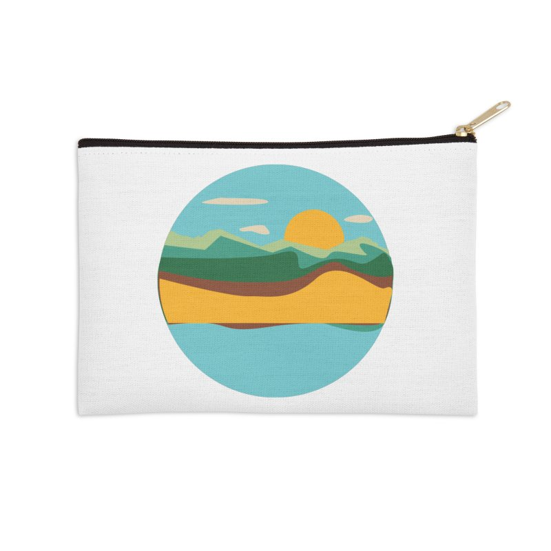 Beach Town Accessories Zip Pouch by libedlulo