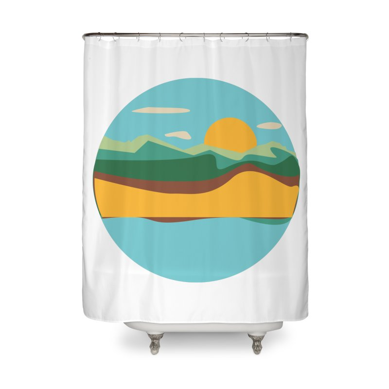 Beach Town Home Shower Curtain by libedlulo