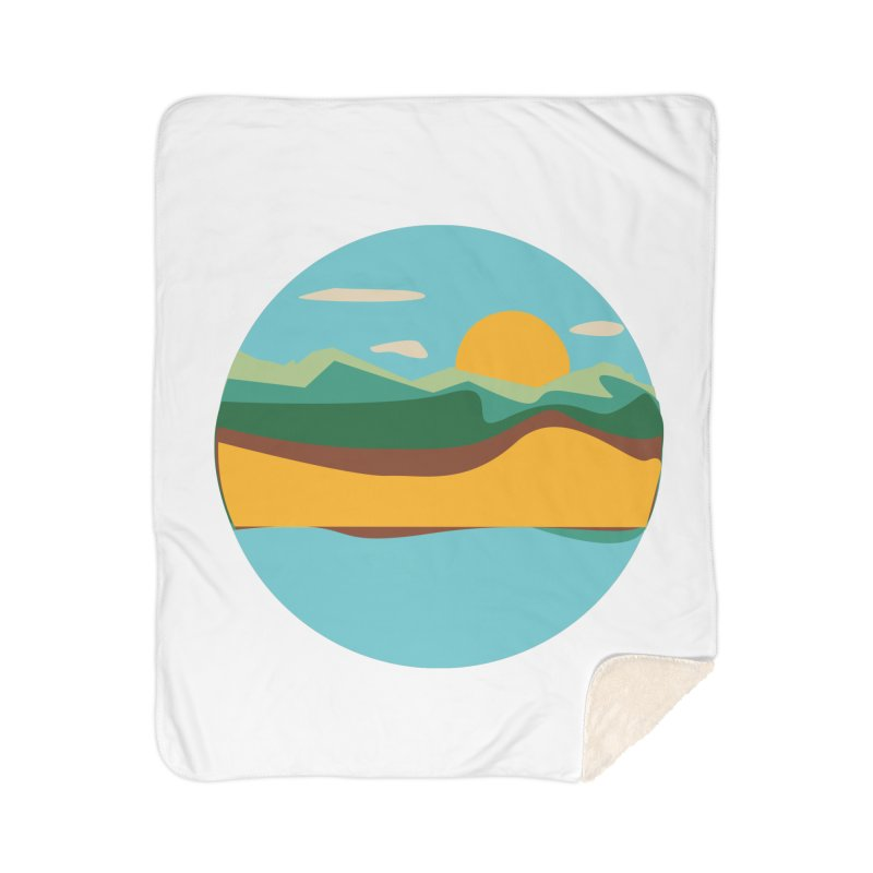 Beach Town Home Sherpa Blanket Blanket by libedlulo