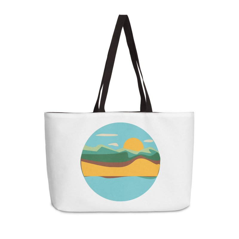 Beach Town Accessories Weekender Bag Bag by libedlulo