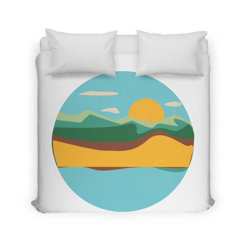Beach Town Home Duvet by libedlulo