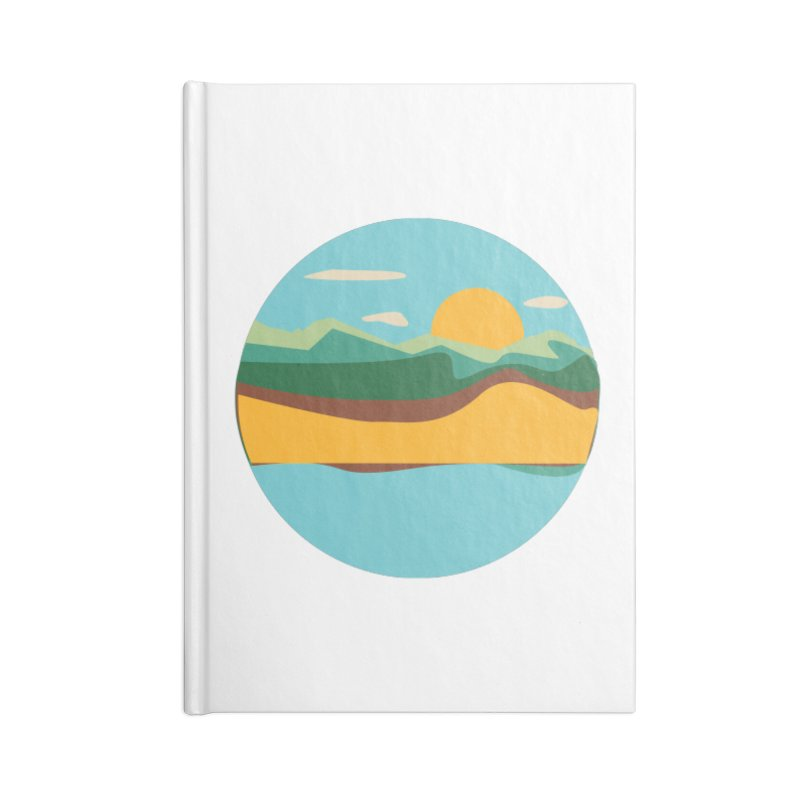 Beach Town Accessories Lined Journal Notebook by libedlulo