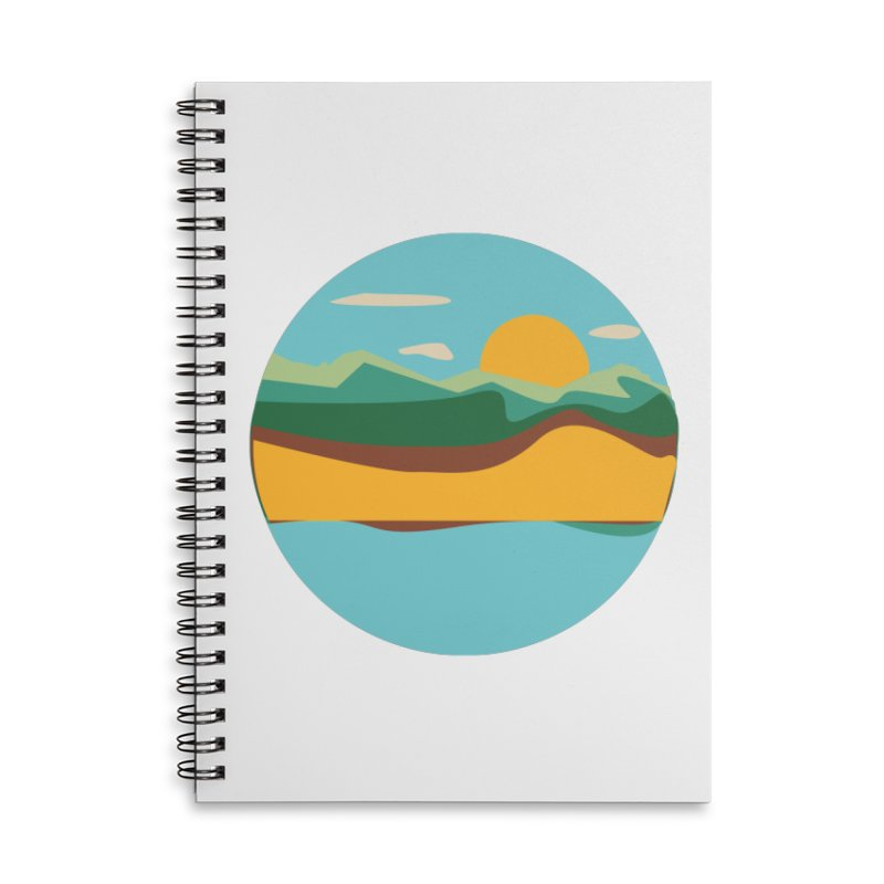 Beach Town Accessories Lined Spiral Notebook by libedlulo