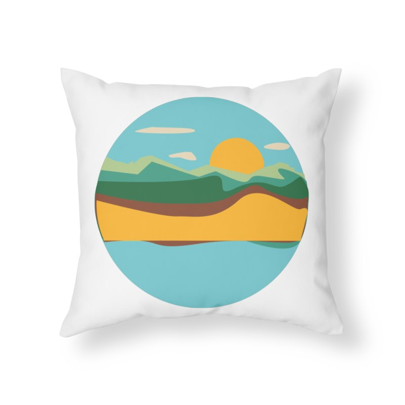 Beach Town Home Throw Pillow by libedlulo