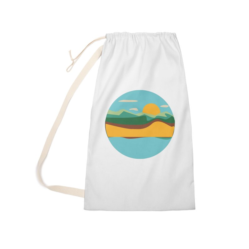 Beach Town Accessories Laundry Bag Bag by libedlulo