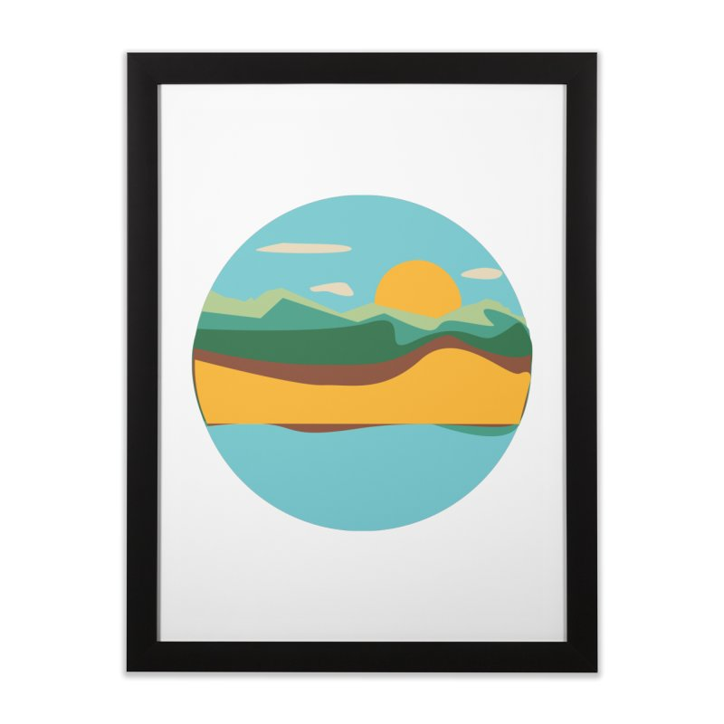 Beach Town Home Framed Fine Art Print by libedlulo