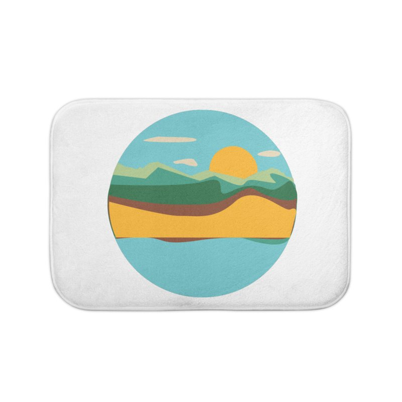 Beach Town Home Bath Mat by libedlulo