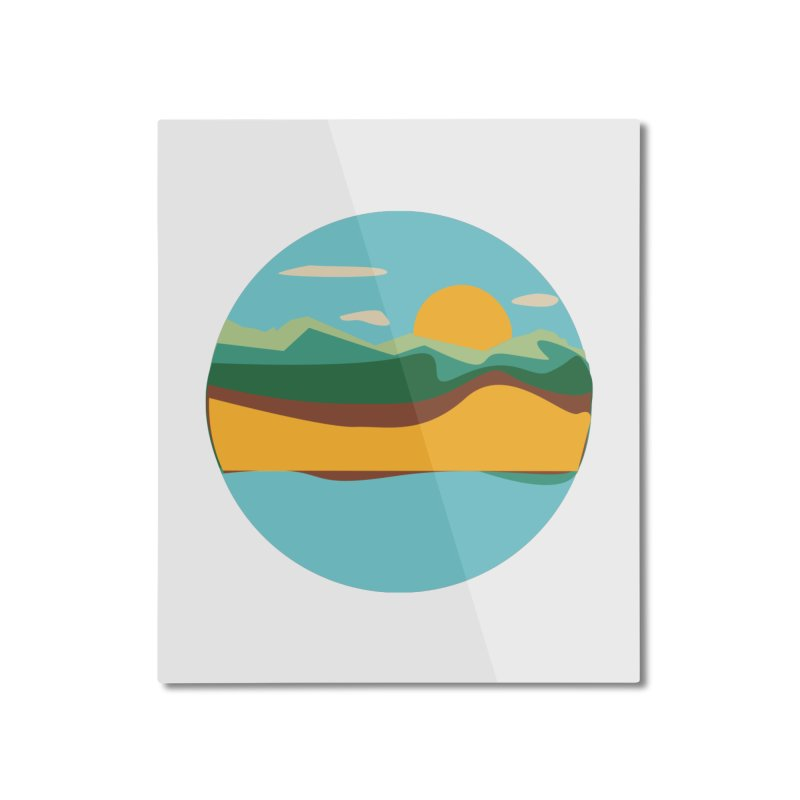 Beach Town Home Mounted Aluminum Print by libedlulo
