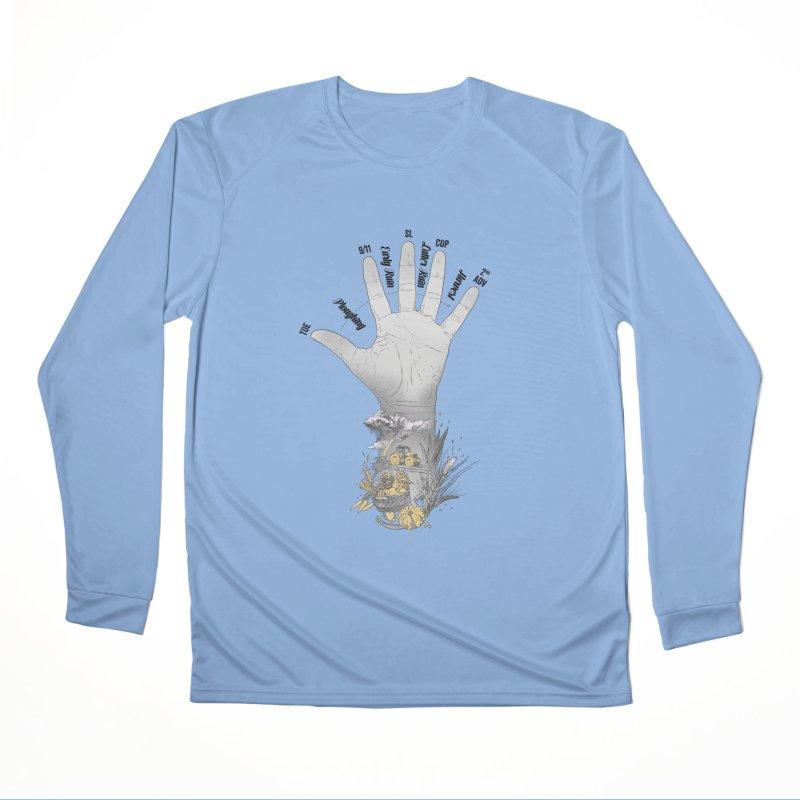 The Hand (grey) Women's Longsleeve T-Shirt by librito's Artist Shop