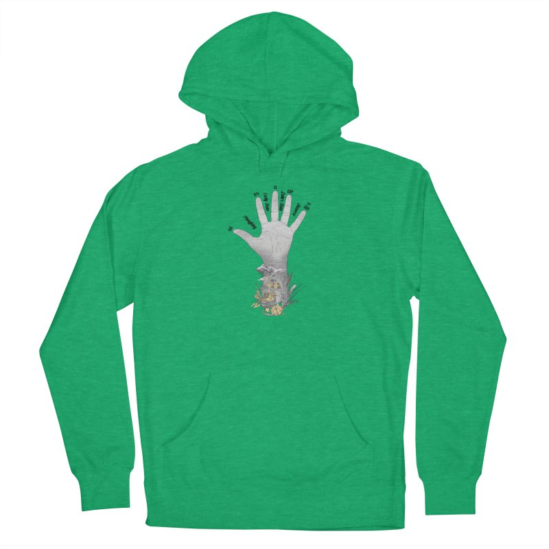 The Hand (grey) Women's Pullover Hoody by librito's Artist Shop