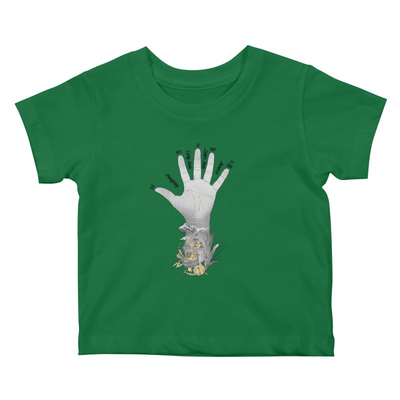 The Hand (grey) Kids Baby T-Shirt by librito's Artist Shop