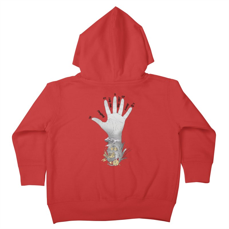 The Hand (grey) Kids Toddler Zip-Up Hoody by librito's Artist Shop