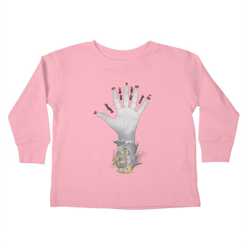 The Hand (grey) Kids Toddler Longsleeve T-Shirt by librito's Artist Shop