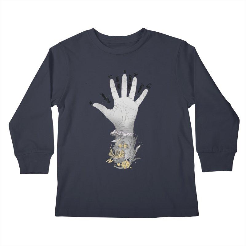 The Hand (grey) Kids Longsleeve T-Shirt by librito's Artist Shop