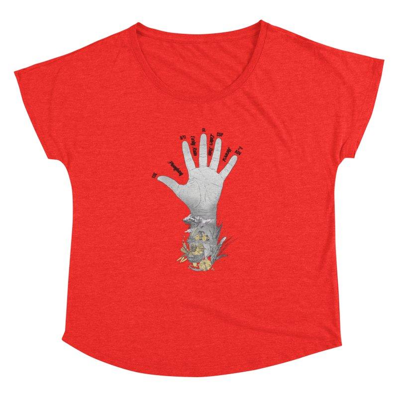 The Hand (grey) Women's Scoop Neck by librito's Artist Shop